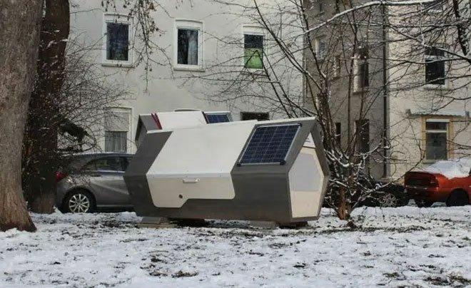 """Thành phố Đức thử nghiệm phòng ngủ """"kén tằm""""giúp người vô gia cư vượt qua mùa đông khắc nghiệt"""