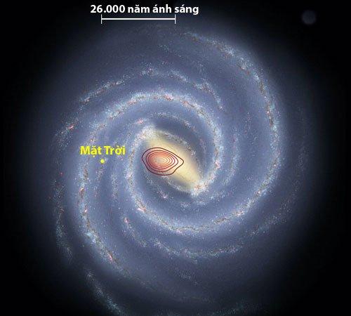 Thiên hà hóa thạch đâm vào dải Ngân Hà 10 tỷ năm trước