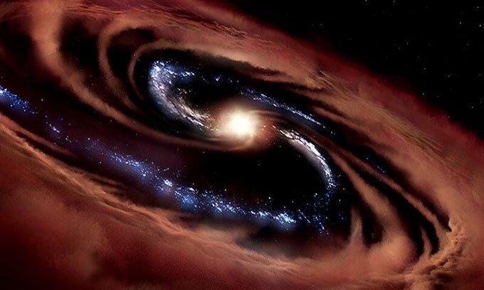 Thiên hà sống sóttrước lực hút của hố đen