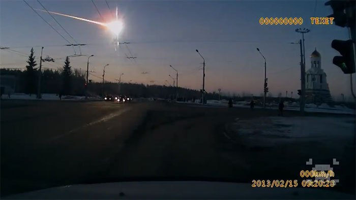 Thiên thạch phát nổ trên trời gây động đất