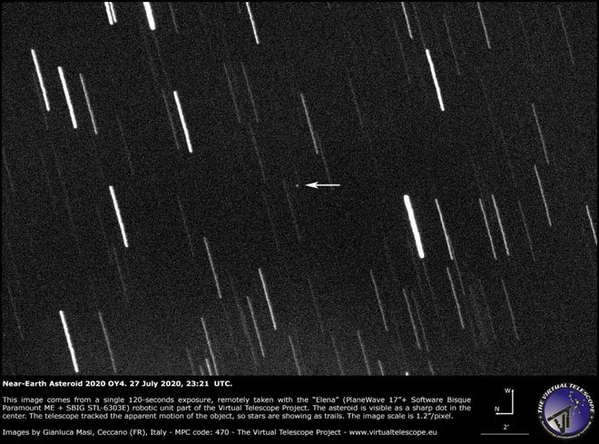 Thiên thạch to bằng xe hơi bay sát nhiều vệ tinh của Trái đất