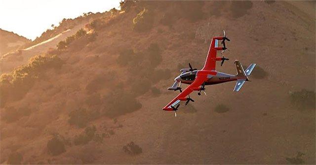 Thiết kế máy bay điện siêu êm cất cánh thẳng đứng