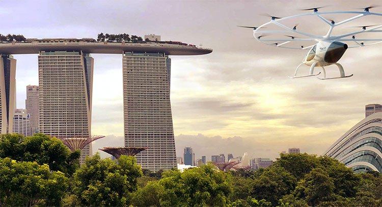Thử nghiệm taxi bay cất hạ cánh thẳng đứng tại Singapore