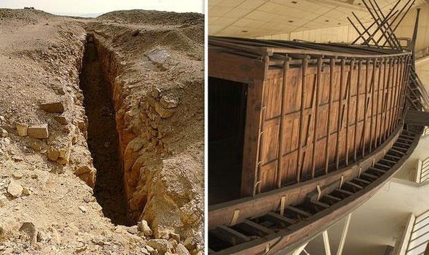 Thuyền của pharaoh Ai Cập suốt 5.000 năm vẫn còn nguyên vẹn