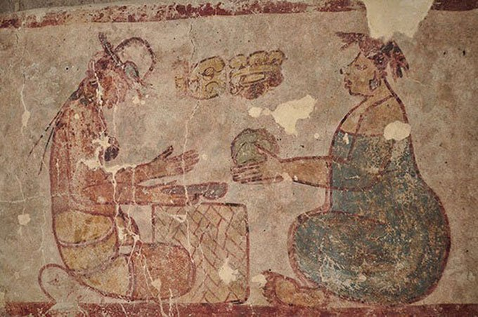 Tìm thấy bức bích họa cổ xưa nhất vẽ cảnh bán muối ở chợ Maya
