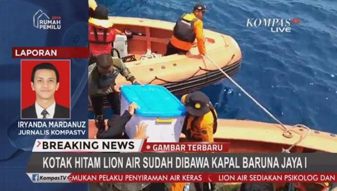Tìm thấy hộp đen máy bay Lion Air rơi xuống biển Indonesia