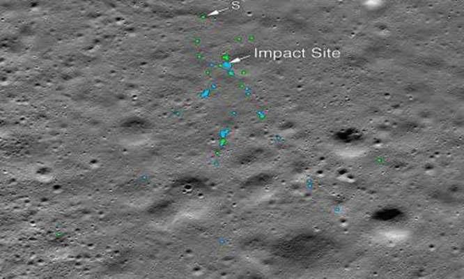 Tìm thấy tàu đổ bộ Mặt Trăng mất liên lạc của Ấn Độ