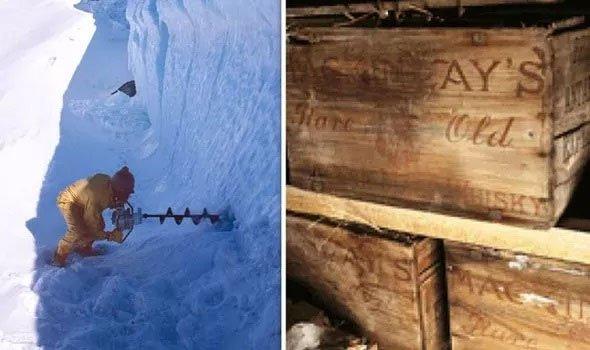"""Tình cờ phát hiện """"kho báu"""" trăm năm chôn sâu trong băng giá Nam Cực"""