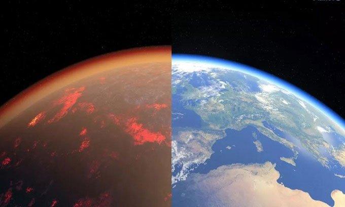 Trái đất từng có khí quyển địa ngụcgiống sao Kim