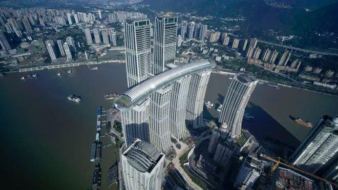 Trung Quốc khánh thành tòa cao ốc nằm ngang cao nhất thế giới