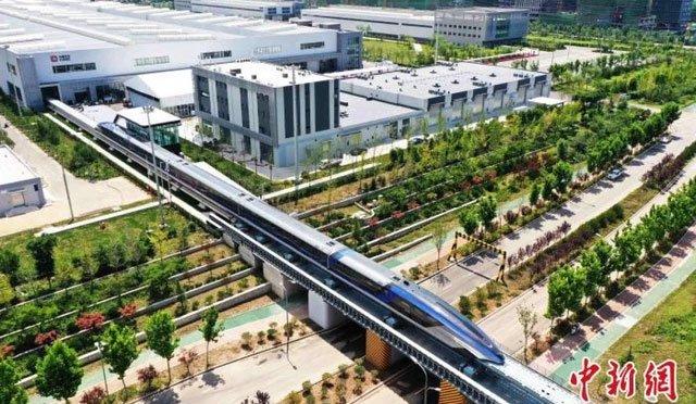 Trung Quốc ra mắt hệ thống giao thông đệm từ trường tốc độ 600km/h