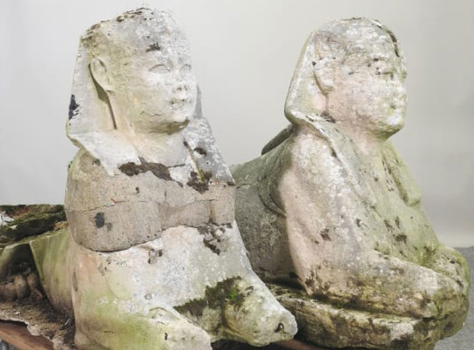 Tưởng bức tượng cũ kỹ trong vườn là đồ giả, ai ngờ lại là di vật Ai Cập cổ đại có giá siêu khủng