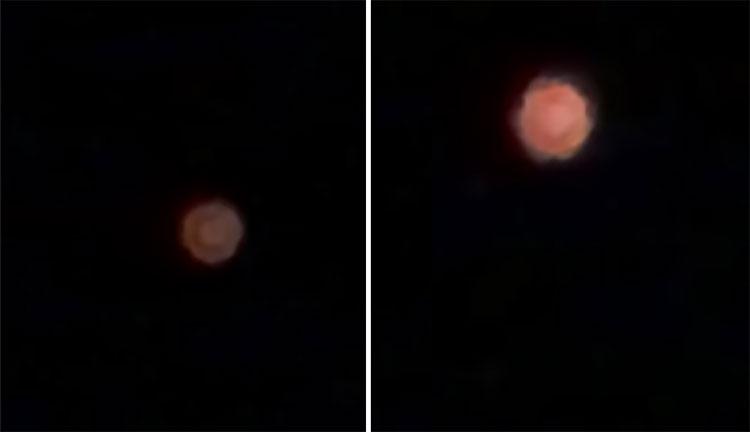 Vật thể biến hình nghi UFO phát sáng trên bầu trời Mỹ