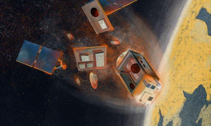 Vệ tinh cháy có thể tạo ra lỗ thủng ozone