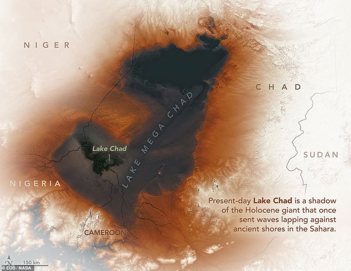 Vệ tinh chụp được vùng biển ma chưa từng thấy giữa sa mạc Sahara