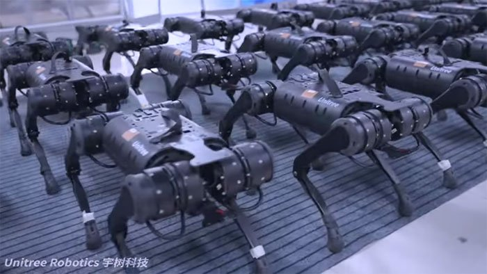 Video: Binh đoàn robot hít đất đều tăm tắp