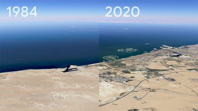 Video timelapse sự thay đổi của Trái đất trong vòng 37 năm qua