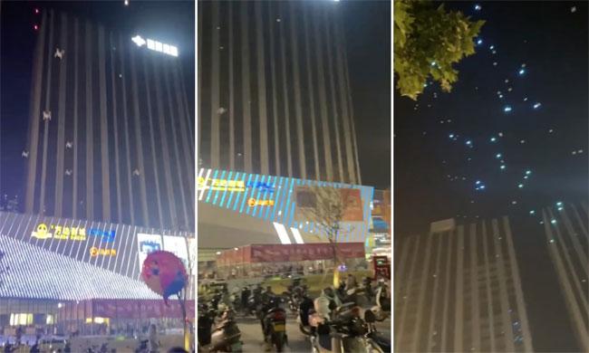 Video UAV Trung Quốc rơi như mưa, 5.000 người xem hoảng sợ