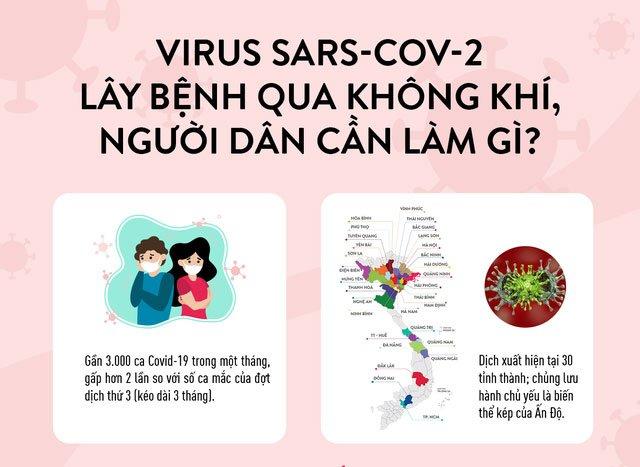 Virus SARS-CoV-2 lây qua không khí, người dân cần làm gì?