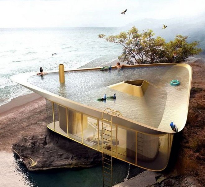Với thiết kế này, bạn có thể ngụp lặn ngay trên nóc nhà mà không cần ra biển