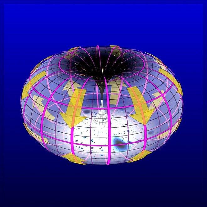 Vũ trụ có thể giống chiếc bánh donut khổng lồ