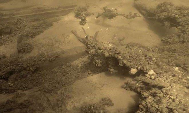 Xác tàu thời Trung Cổ chìm dưới đáy sông
