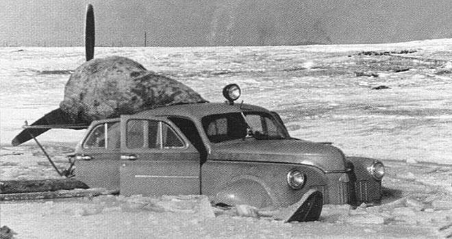 Xe ô tô trượt địa hình bằng động cơ máy bay của Liên Xô – như viễn tưởng mà hóa ra là có thật
