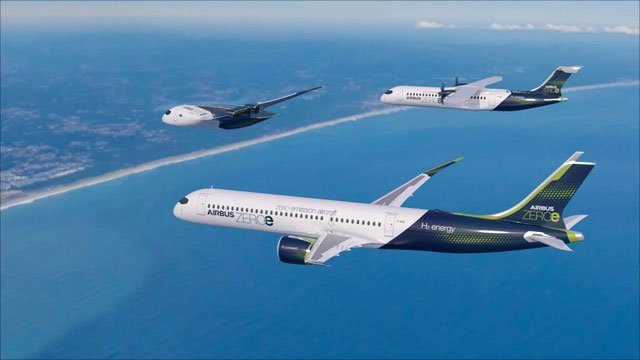 Hãng Airbus tiết lộ kế hoạch sản xuất máy bay phát thải bằng 0