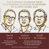 3 nhà kinh tế Mỹ và Canada thắng giải Nobel Kinh tế 2021