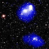 4 cụm thiên hà va chạm cách Trái đất 3 tỷ năm ánh sáng