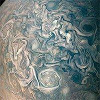 Ảnh chụp bề mặt sao Mộc trông giống hệt một bức tranh thủy mặc