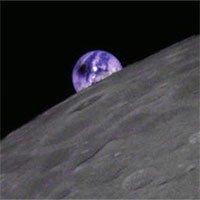 Ảnh chụp Trái đất khi xảy ra nhật thực nhìn từ Mặt trăng