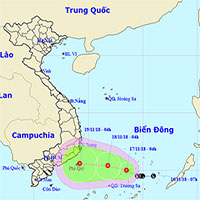 Áp thấp nhiệt đới giật cấp 8 hình thành trên Biển Đông