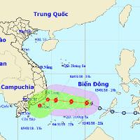Áp thấp nhiệt đới mạnh thành bão số 1 ( bão Bolaven), hướng Nam Trung Bộ