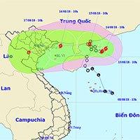 Áp thấp nhiệt đới trên biển Đông mạnh lên thành bão - cơn bão Bebinca