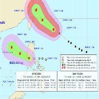Áp thấp nhiệt đới vào biển Đông có khả năng mạnh lên thành bão