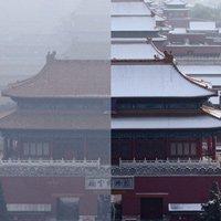 Bắc Kinh trước và sau khi bị nhấn chìm trong khói bụi ô nhiễm