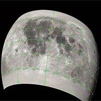 Bản đồ 3D chi tiết bề mặt Mặt trăng