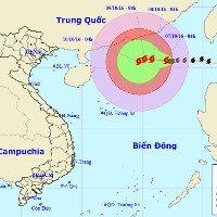 Bão Aere giật cấp 9 - 10, biển Đông có gió mạnh