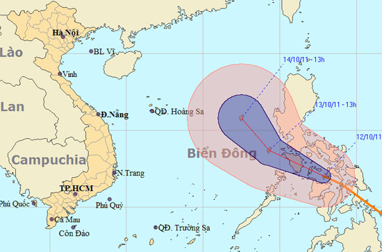 Bão Banyan mạnh cấp 8 trên biển Đông