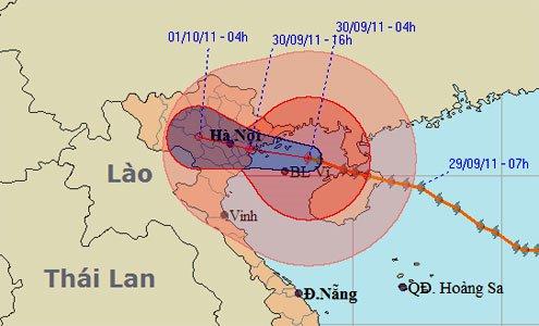 Bão đổ bộ từ Quảng Ninh đến Nam Định
