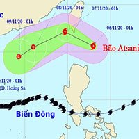 Bão Goni chưa tan, biển Đông lại xuất hiện thêm bão Atsani