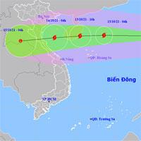 Bão Kompasu vào Biển Đông trở thành cơn bão số 8, mưa lớn diện rộng