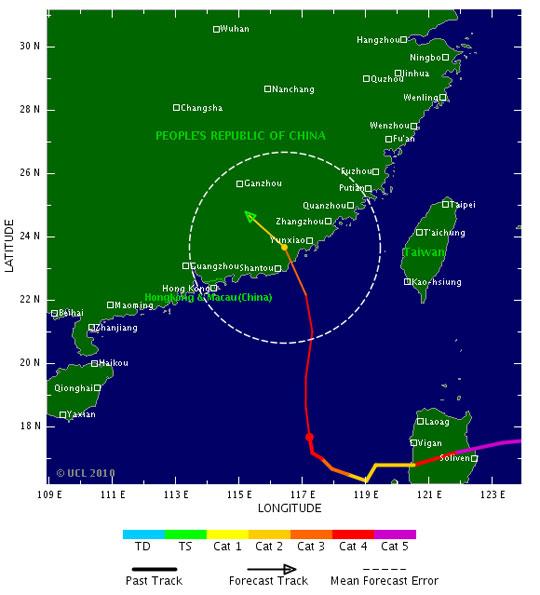 Bão Megi dự kiến sẽ đổ bộ vào ven biển Hongkong