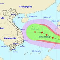 Bão Phanfone giật cấp 13 sắp vào biển Đông