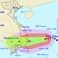 Bão số 12 mạnh dần lên, hướng thẳng vào Khánh Hòa - Ninh Thuận
