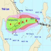 Bão số 12 nhắm vào Khánh Hòa - Ninh Thuận, sức gió 130km/h