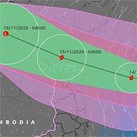 Bão số 13 Vamco sẽ đổ bộ miền Trung ngày 15/11