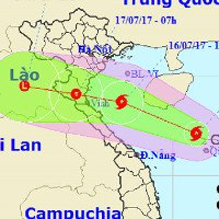 Bão số 2 giật cấp 9 - 10 hướng vào Thanh Hóa đến Hà Tĩnh