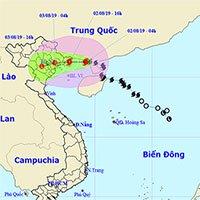 Bão số 3 cách Quảng Ninh - Hải Phòng khoảng 180km